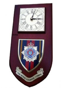 RLC Royal Logistic Corps Regimental Wall Plaque Clock